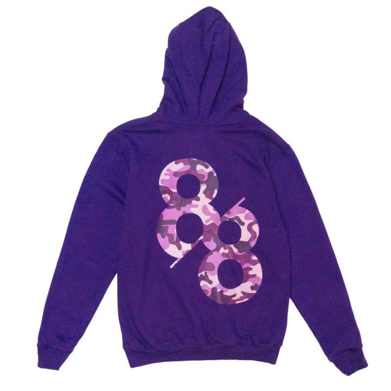 Product Image back Royal purple camo Kanga Hoodie