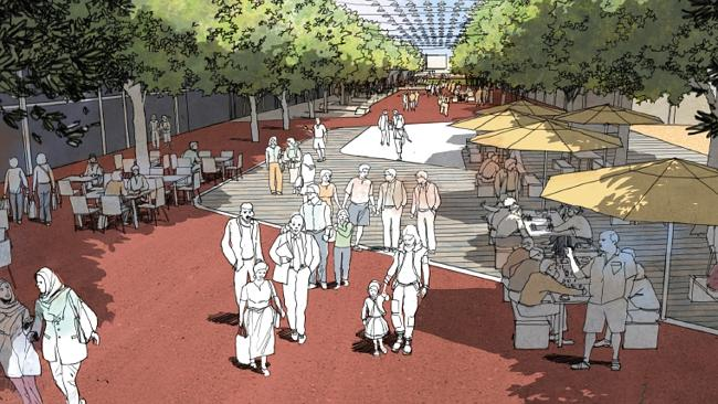 An artist's impression of Macquarie Mall after the city revitalisation project. Image source: Liverpool Leader