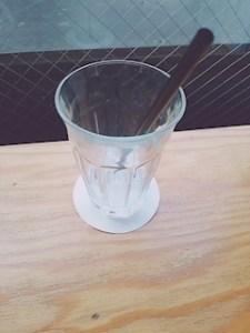 池袋JK制服キャバクラ【はちみつくろーばー】ともか 飲み終わったアイスティー