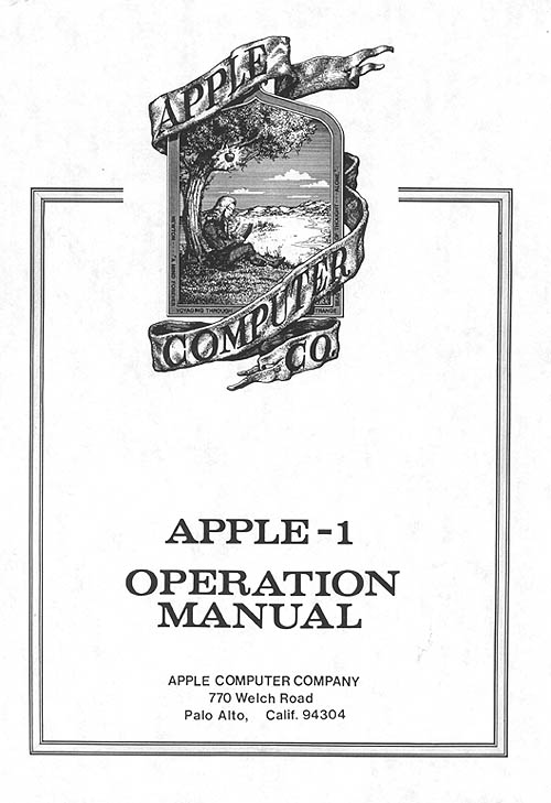 Scans – Apple I Manual