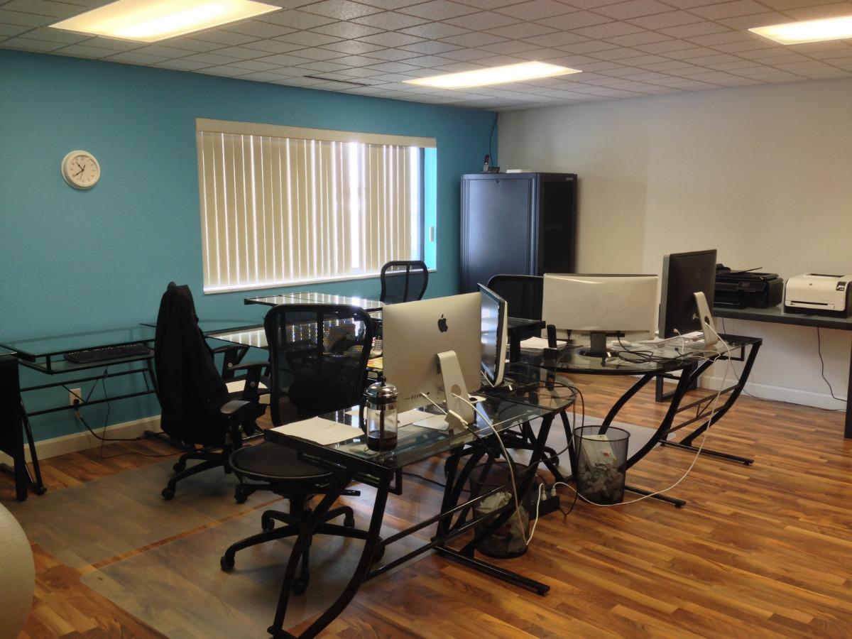 old desk set up