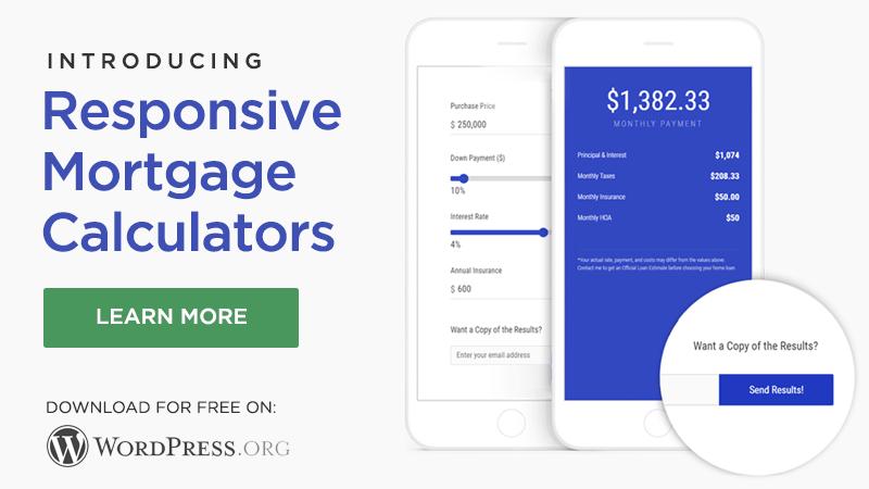 Just Launched: Responsive Mortgage Calculators Plugin for WordPress » 8blocks