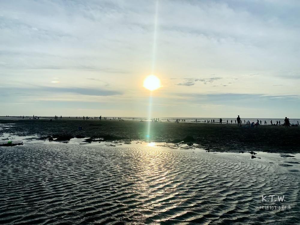 桃園夕陽竹圍沙灘