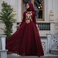 Muslim Designer Burgundy Prom Dresses, Long Burgundy Party ...
