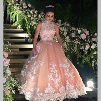 2017 Vintage Champagne Quinceanera Dress For 15 Year Girls ...