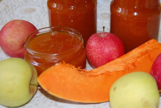 Тыквенно–яблочное пюре