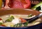 Грибной суп с красным болгарским перцем