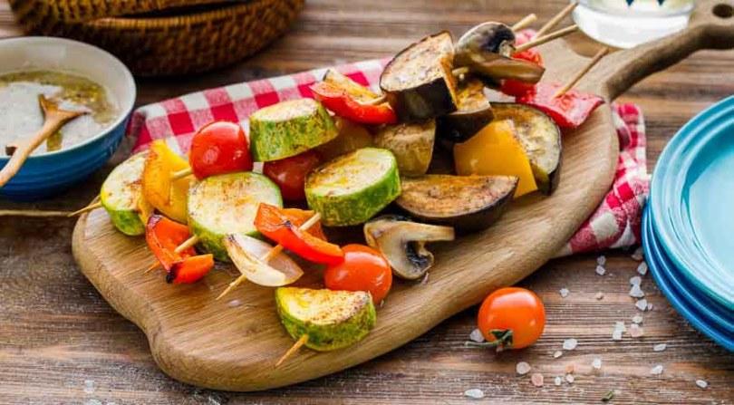 Овощные шашлыки