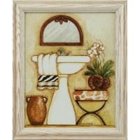 Safari, 8x10 Framed Bathroom Wall Art Set in White | eBay