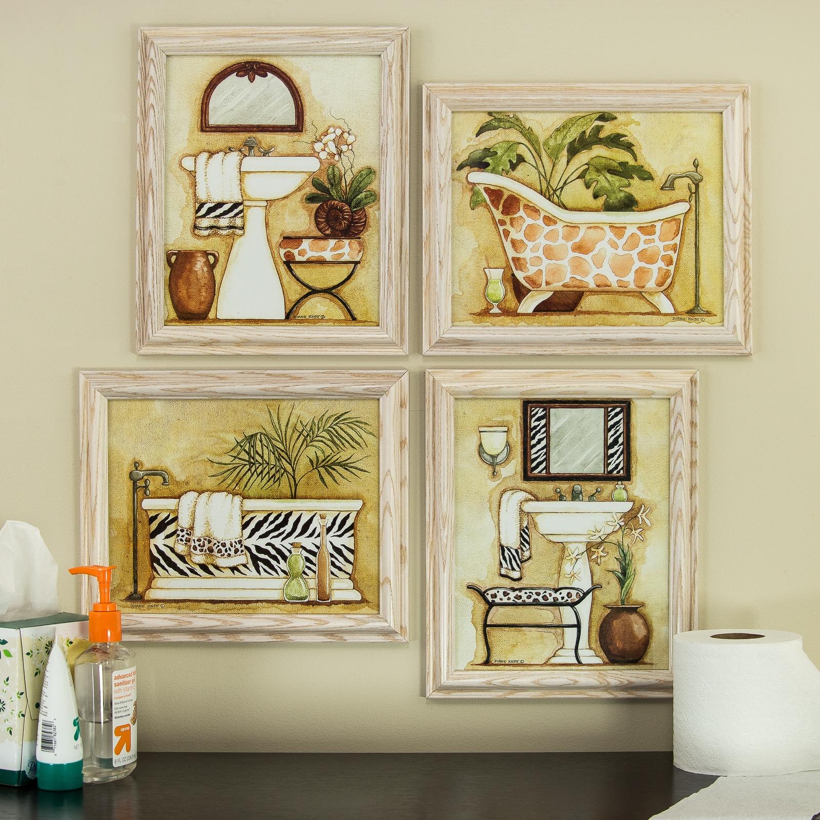 framed art for bathroom walls