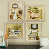 framed art for bathroom walls