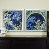 Masculine-Feminine Wave, 12x12 Framed Asian Wall Art Set