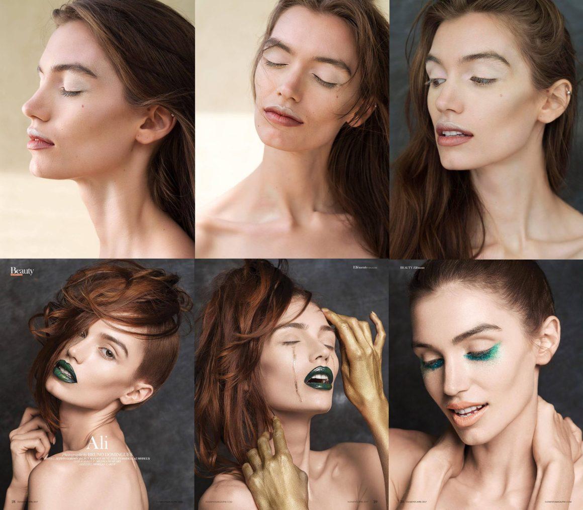Teamwork: photographer, model, makeup artist and assistant
