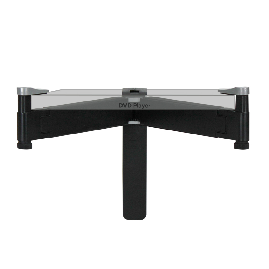Under TV Wall Mount Component AV DVD Bracket Shelf DVR