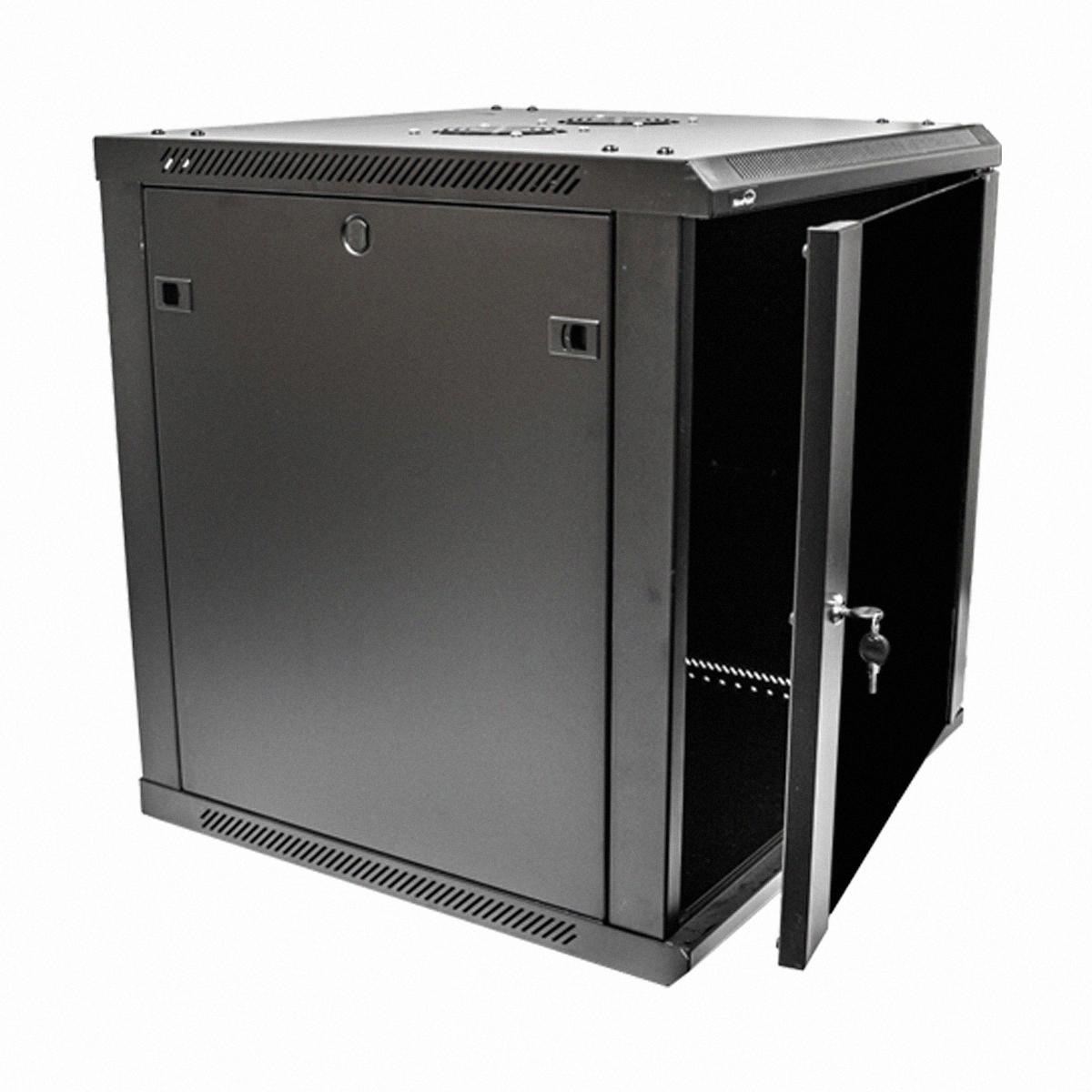 12U Wall Mount Network Server Data Cabinet 24inch Depth Glass Door Lock  Key  eBay