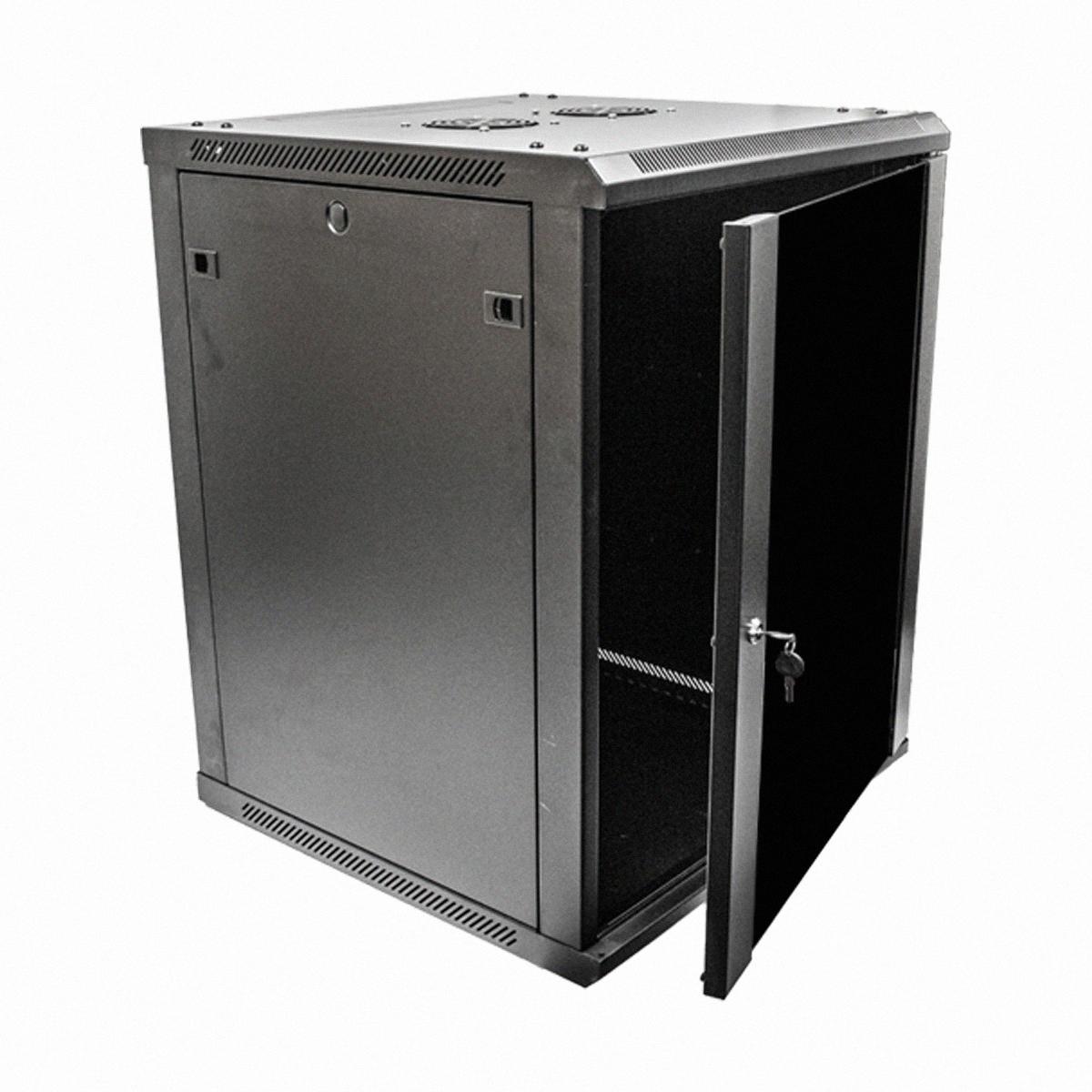 15U Wall Mount Network Server Data Cabinet 24inch Depth Glass Door Lock  Key  eBay