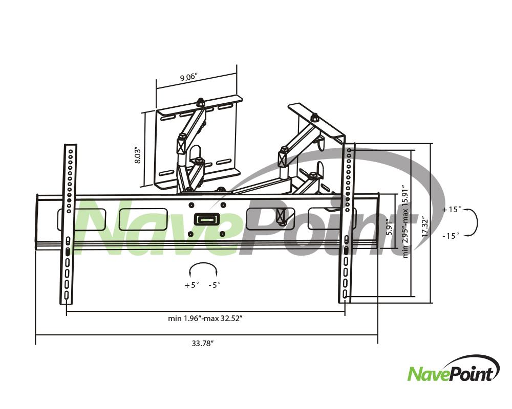 Corner Swivel Arm Wall Mount Bracket LCD TV LED Flat 37 42