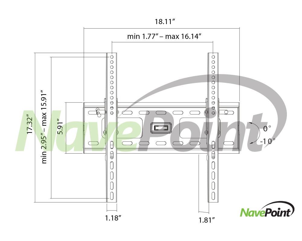 Tilting LG Electronics 55-Inch TV Wall Mount Bracket Tilt