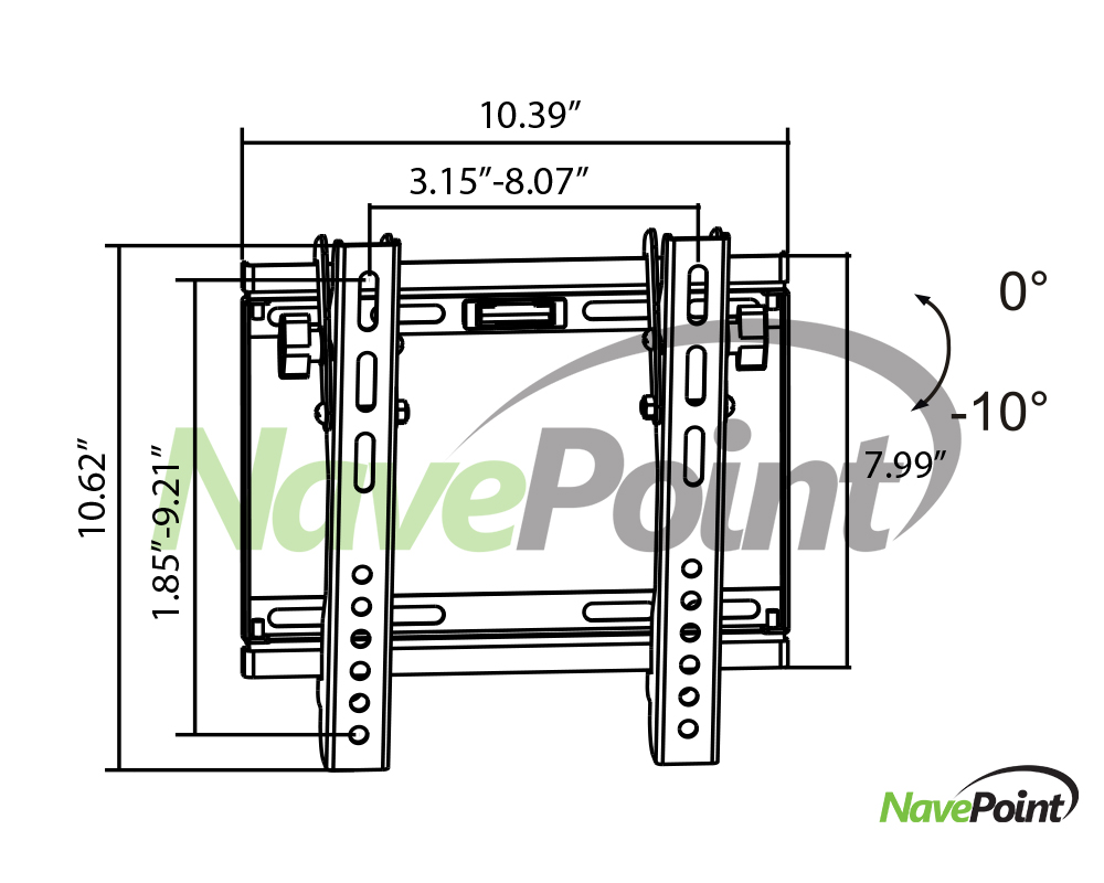 Wall Mount Samsung 32-Inch TV Bracket Tilt for UN32EH5000