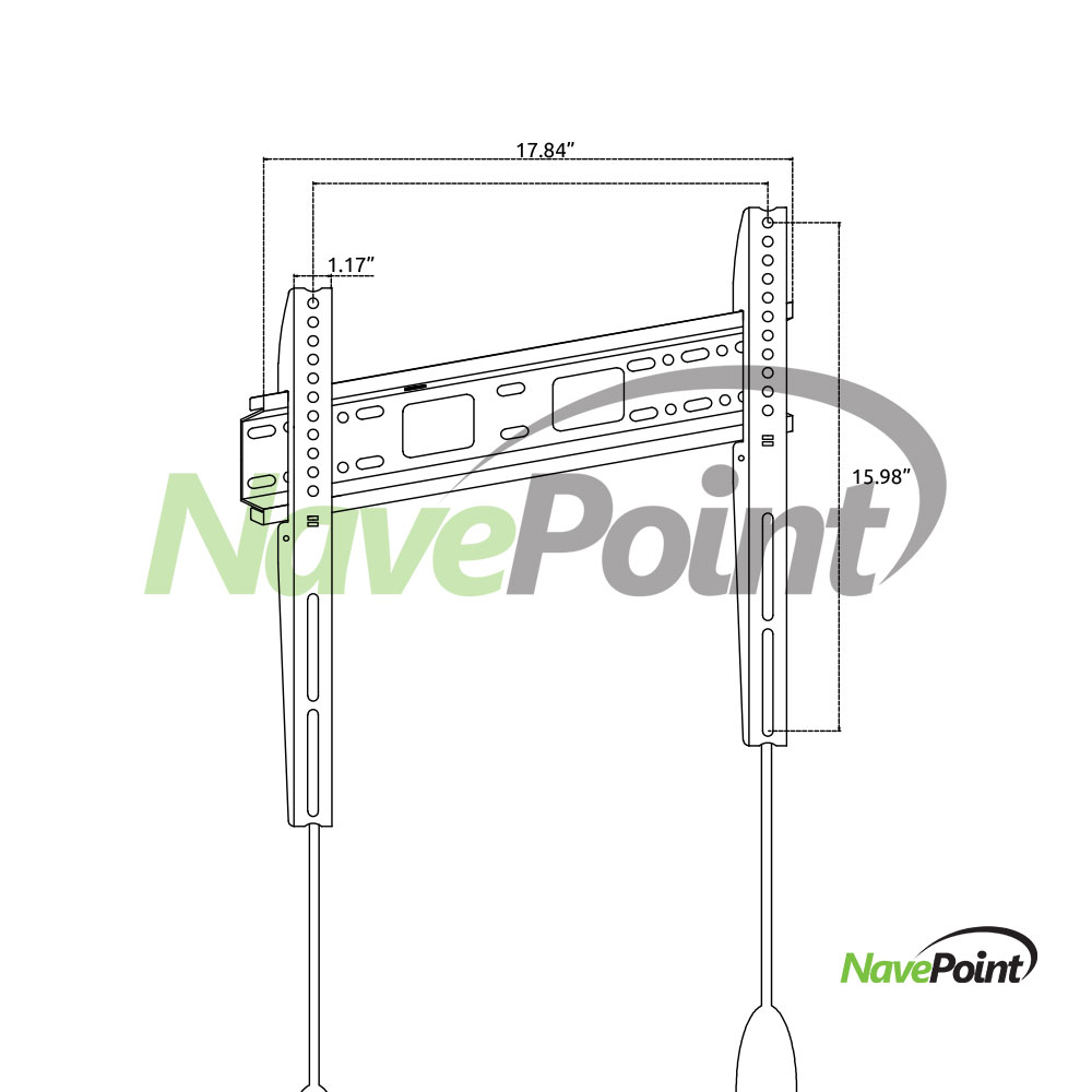 Low Profile Hitachi 32-inch LED 1080p HDTV Wall Mount