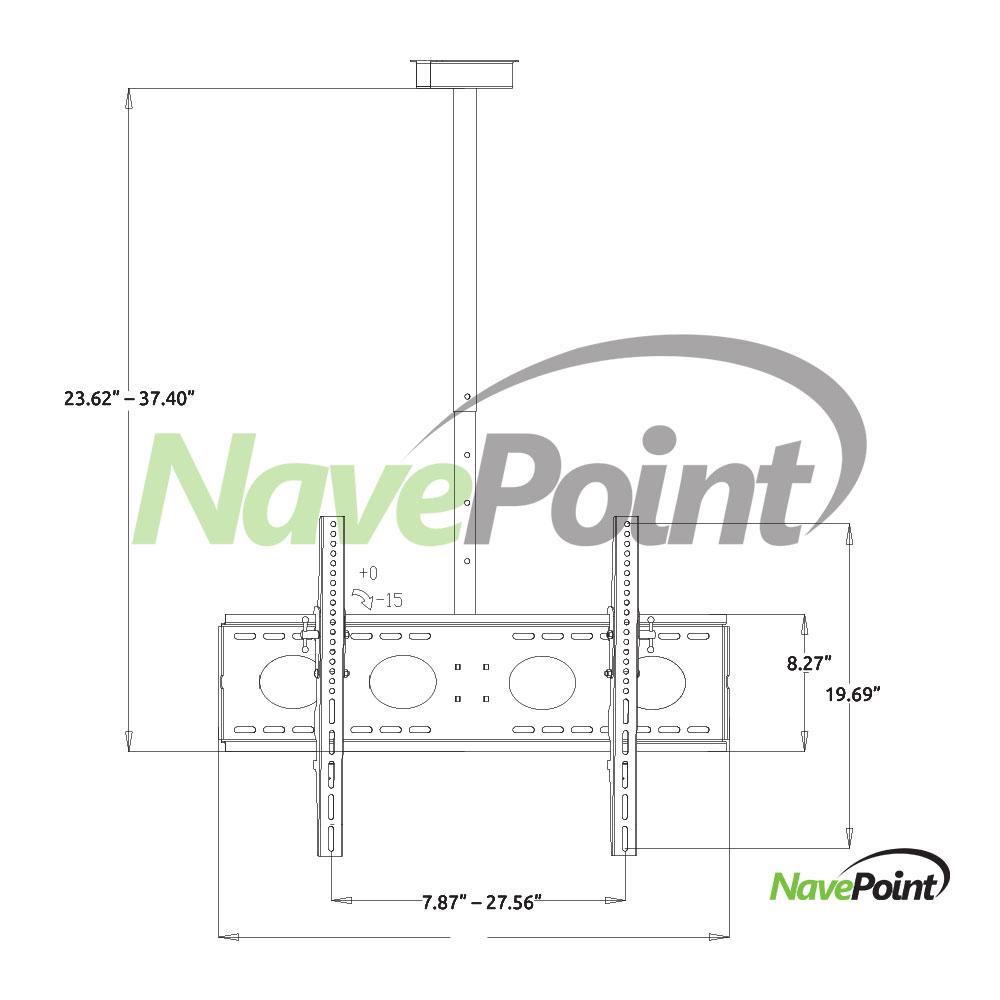 Ceiling Mount Samsung Curved 55-Inch LED TV Bracket 360