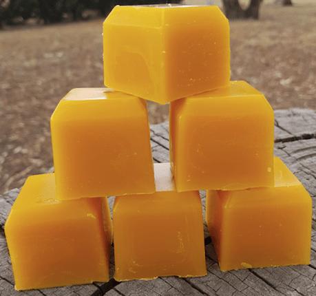 Beeswax blocks