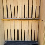 Bottom tray slightly removed of AZ hive
