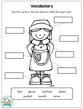 Thanksgiving Speech and Language Activities & Worksheets