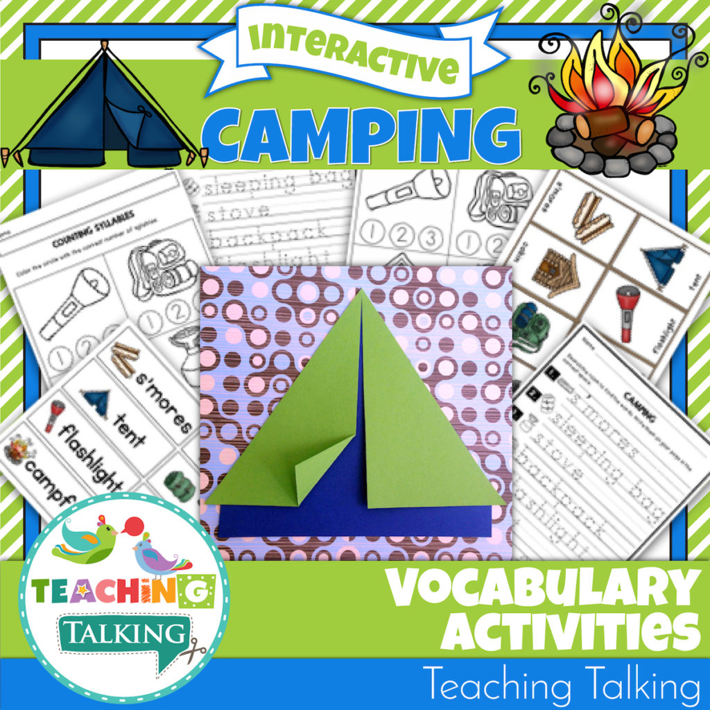 Camping Vocabulary Activities For Speech Therapy