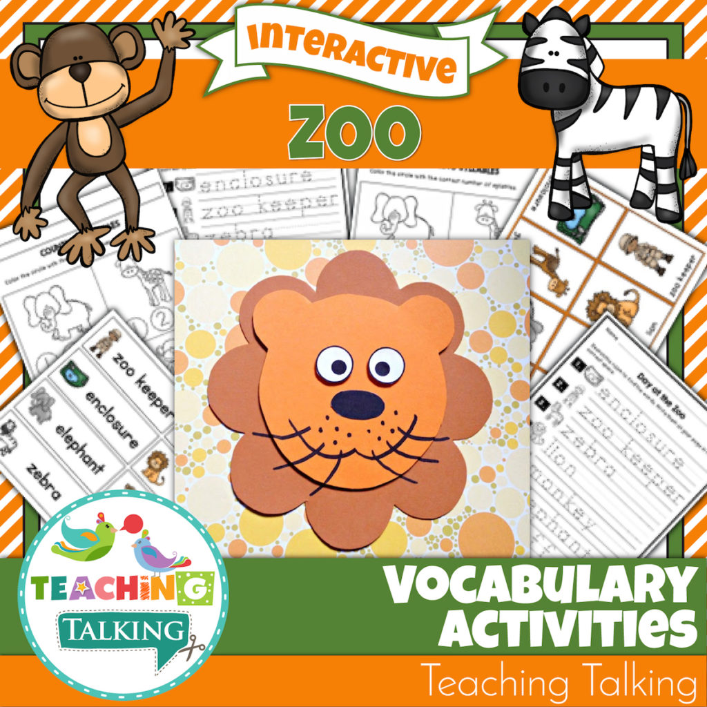 Zoo Vocabulary Activities For Speech And Language