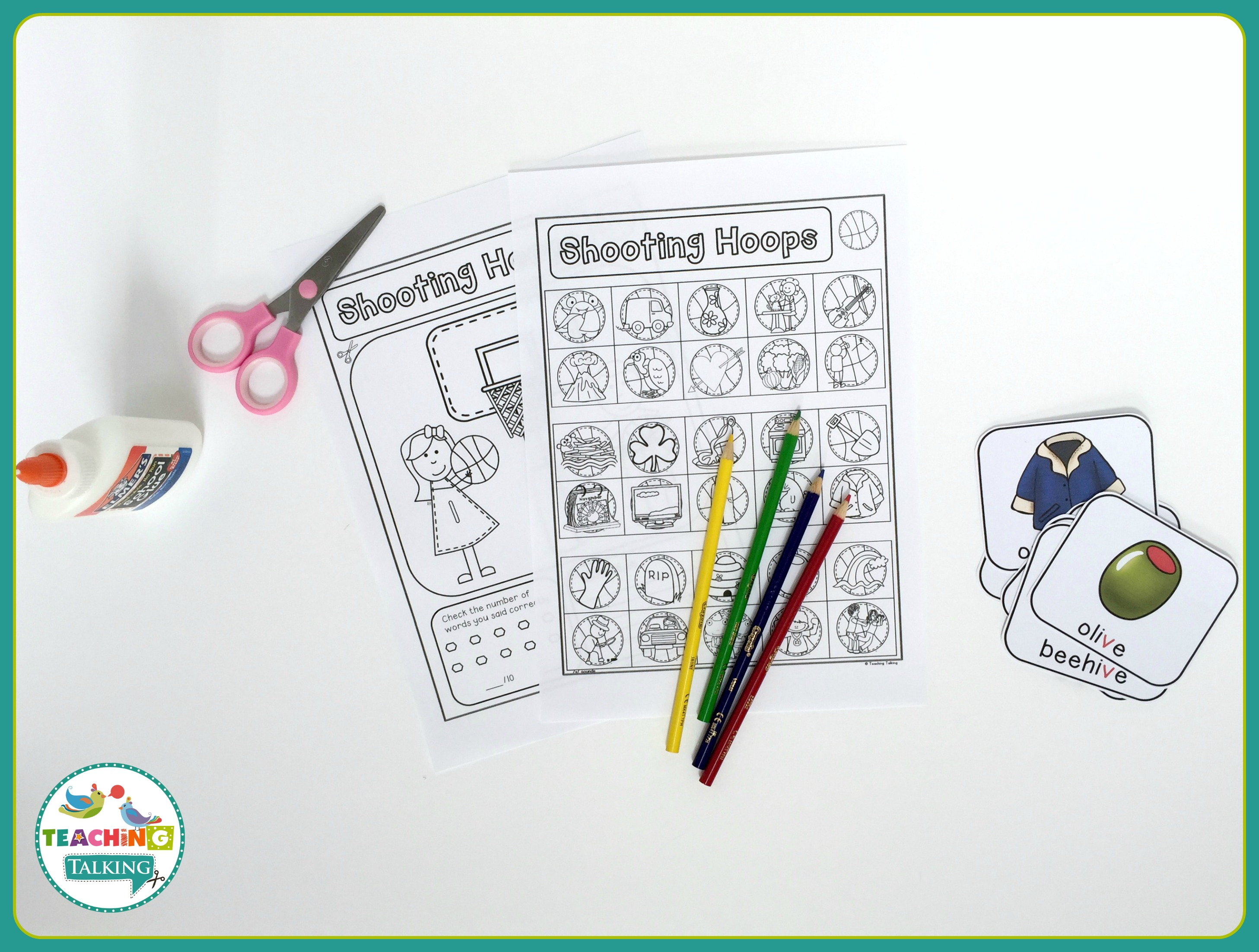 Free Articulation Activities For V Notebooks Set