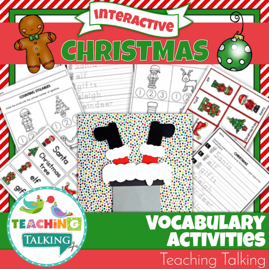 Christmas Vocabulary Speech Activities For Speech Therapists