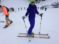 Skiing at Whistler Blackcomb; the last stop on our ski pass.
