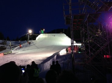 Whistler Blackcomb Big Air competition for the ski and snowboard festival. CRAAZZYYY stuff! We saw Olympians and X-game winners compete.