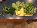 New veggies from our local, organic farm box. We've munched our way through some amazing new vegetables since moving here.