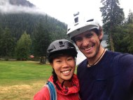 Muddy (but happy) faces back at the lodge