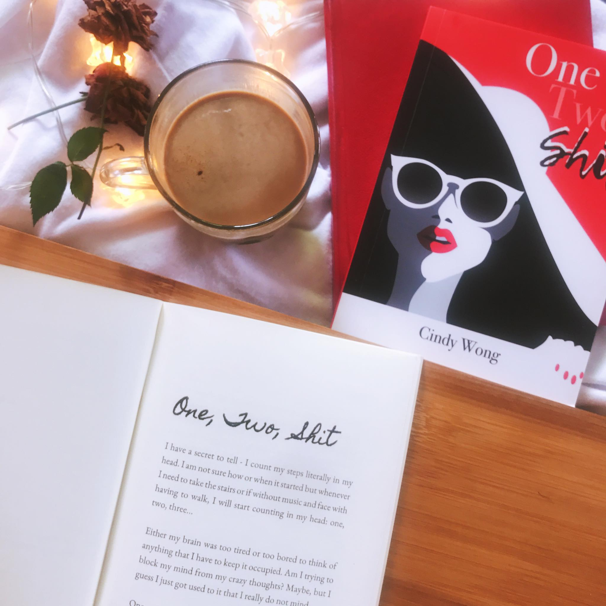 8Letters Bookstore and Publishing One Two Shit Cindy Wong Flatlay