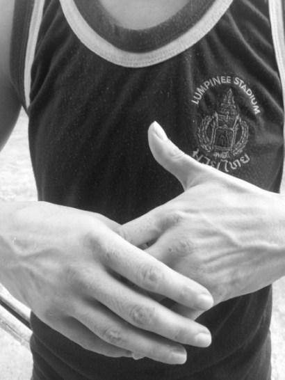muay thai hands - Sylvie von Duuglas - black and white