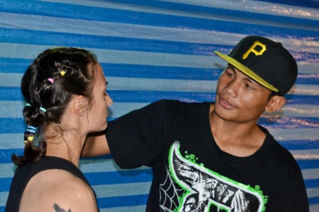 Sylvie and Neung - muay thai