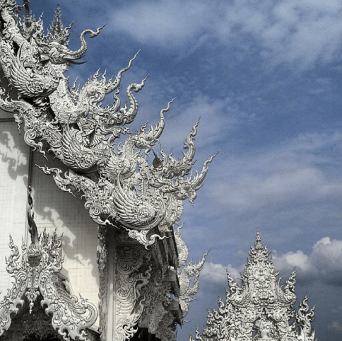 Elephant Transforms into Dragon at Wat Rong Khun - The White Temple
