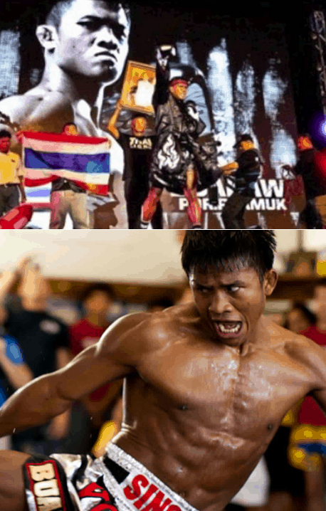 Buakaw grimmace face - Bruce Lee