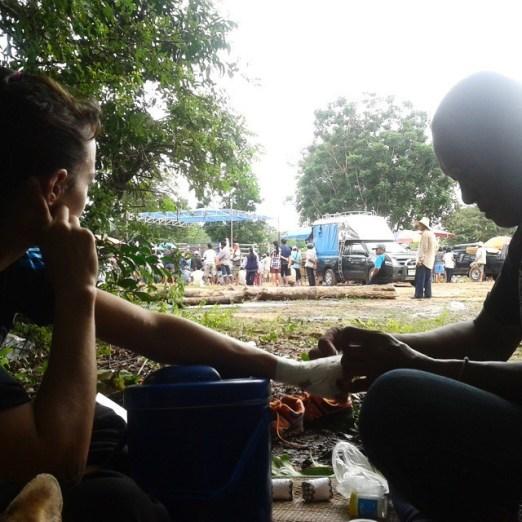 Hands Being Wrapped - Muay Thai Isaan - Buriram - Sylvie