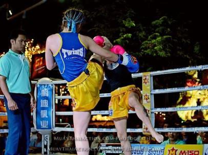 Sylvie vs Saya Ito - Ito head kick