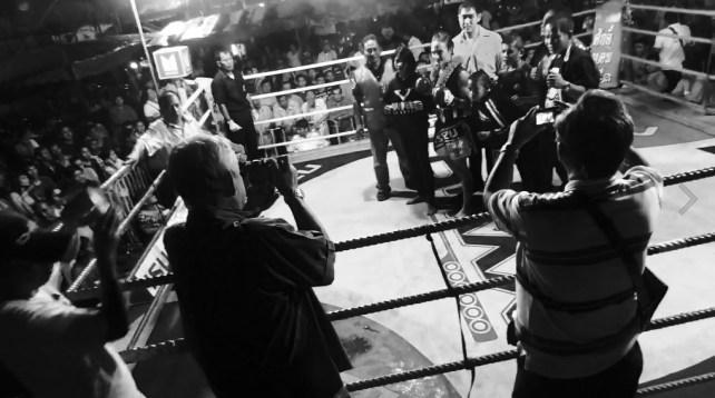 Sylvie von Duuglas-Ittu - Muay Siam Fight 88 black and white