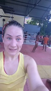 my second day training in Koh Lanta, drenched in sweat and going delirious from the heat