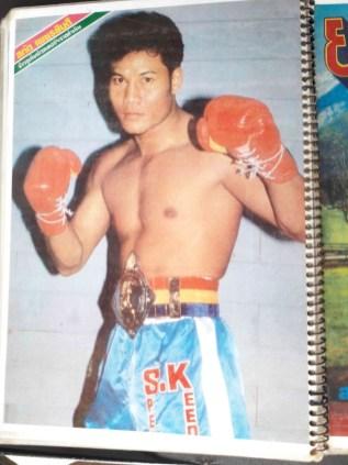 Sagat Petchyindee - posing with belt