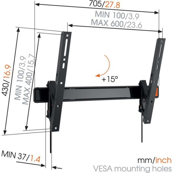 WALL 3315 Soporte TV Inclinable | Vogel's