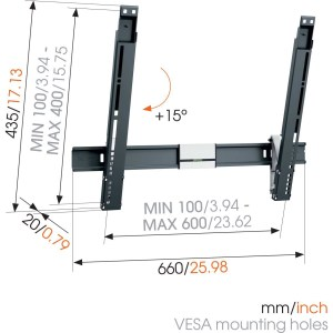 THIN 515 ExtraThin Soporte TV Inclinable 600×400 | Vogel's