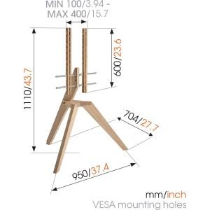THIN 505 ExtraThin Soporte TV Fijo 600×400 | Vogel's
