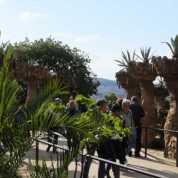 グエル公園01回廊_バルセロナ5-2ある日本人観光客のスペイン旅行記